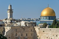 Golden Dome and Western Wall.